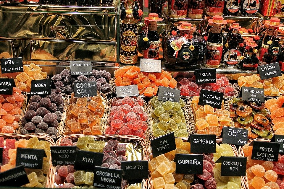 enjoying barcelona with kids means a stop at la boqueria market